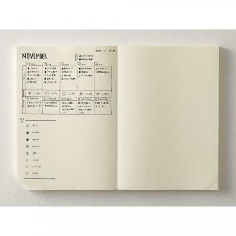 Midori - MD Notebook Journal <A5> Codex 1Day 1Page Dot grid