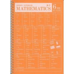 APICA Lesson Notebook - Spiral B5 Mathematics