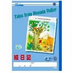 Apica Moomin Gakushu-Cho - B5 Eniki Handana Tate 10-Gyo