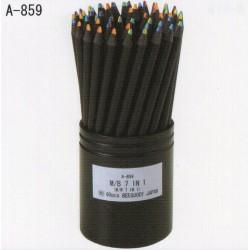Eyeball Pencil Color Pencils - 7 Color In 1 Black