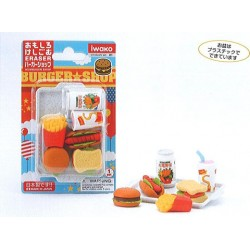 Iwako Blister Pack Erasers - Burger Shop