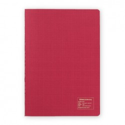 Kleid 2mm Grid Notebook - A5 - Red - Cream Paper