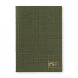 Kleid 2mm Grid Notebook - A5 - Olive Drab - Cream Paper