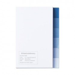 kleid Sticky Notes - 6+1 Label Gradation White/Blue