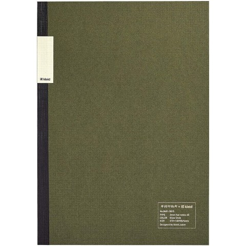 kleid Flat Notebook - A5 Olive Drab