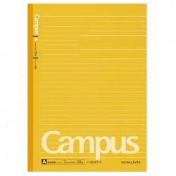 Kokuyo - Campus Notebook - B5 - Dotted 7 mm Rule - Yellow