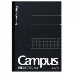 Kokuyo - Campus Notebook - B5 - 5 mm Grid Rule - Black