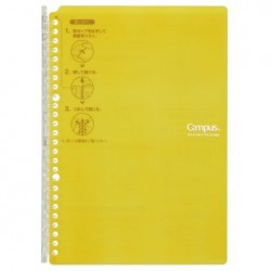 Kokuyo Campus Smart Ring Binders Notebook - B5 - 26 Rings Light Yellow