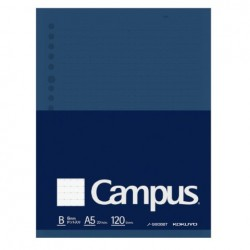 Kokuyo Campus Loose Leaf Paper - Sarasara A5 - Dotted 6mm Rule 120 Sheets