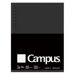 Kokuyo Campus Loose Leaf Paper - Sarasara A5 - 5mm Grid 120 Sheets