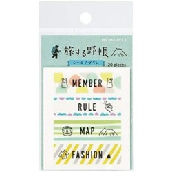Trystrams Field Note - TRIP BOOK - WASHI TAPE - Plan