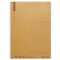 Maruman Spiral Basic Notebook - B5 Line 8.0mm 40 Sheets