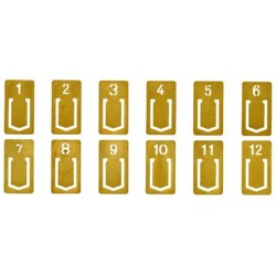 TRC Brass Products - Brass Number Clip