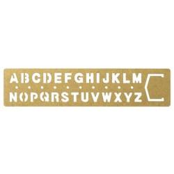 TRC Brass Products - Template Bookmark Alphabet