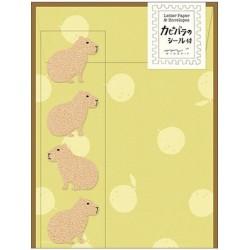 Midori Animal Motif Letter Set - Capybara