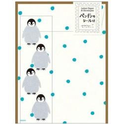 Midori Animal Motif Letter Set - Penguin