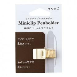 Midori Miniclip Penholder - Miniclip Penholder Gold