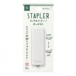Midori XS Compact Stapler - White