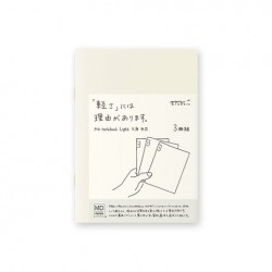 MD Notebook Light - Md Light A6 Blank 3Pcs Pack Japanese Caption