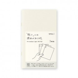 MD Notebook Light - Md Light B6 Slim Blank 3Pcs Pack Japanese Caption