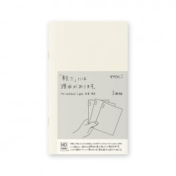 MD Notebook Light - Md Light B6 Slim Ruled Lines 3Pcs Pack Japanese Caption