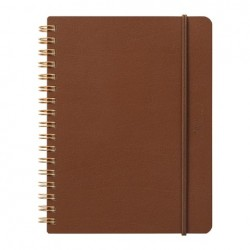 Midori Grain Notebook - B6 Dark Brown