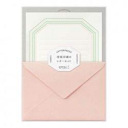 Midori Letterpress Letter Set - 462 Press Frame Pink
