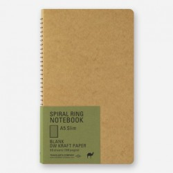 TRC Spiral Ring Motebooks - A5 Slim - Blank Dw Kraft Paper