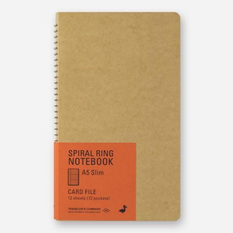 TRC Spiral Ring Motebooks - A5 Slim - Card File