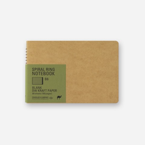 TRC Spiral Ring Notebook - B6 - Blank Dw Kraft Paper