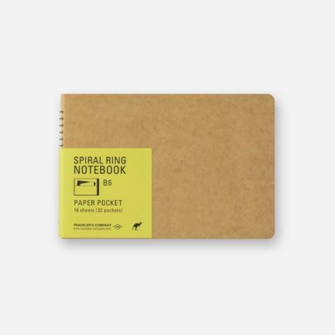 TRC Spiral Ring Notebook - B6 - Paper Pocket
