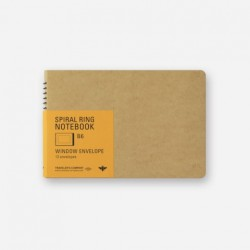 TRC Spiral Ring Notebook - B6 - Window Envelope