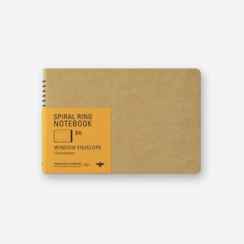 TRC Spiral Ring Notebook - B6 - Window Envelope