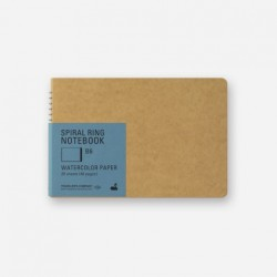 TRC Spiral Ring Notebook - B6 - Watercolor Paper