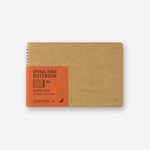 TRC Spiral Ring Notebook - B6 - Photo File