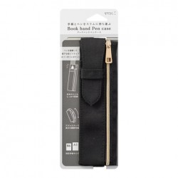 Midori Book Band Pen Case - Compatible B6/A5 - Black