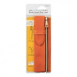 Midori Book Band Pen Case - Compatible B6/A5 - Orange