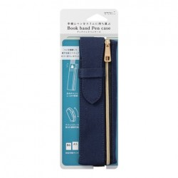 Midori Book Band Pen Case - Compatible B6/A5 - Navy