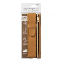 Midori Book Band Pen Case - Compatible B6/A5 - Brown