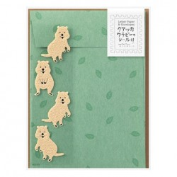 Midori Animal Motif Letter Set - Quokka w/ Sticker