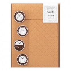 Midori Animal Motif Letter Set - Hedgehog w/ Sticker