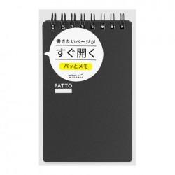 Midori Patto Quick Open Memo Pad - Black