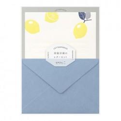 Midori Letterpress Letter Set - Lemon