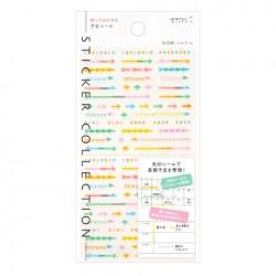 Midori Sticker Collection - Plan Arrow Pastel
