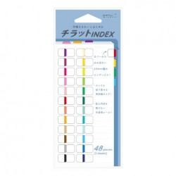 Midori Index Label Chiratto - 24 Colors Vivid