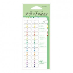 Midori Index Label Chiratto - Number Color