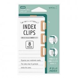 Midori Index Clip Chiratto - Orange