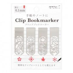 Midori Bookmarker Clip - Flower