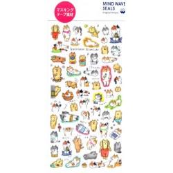 Mind Wave Sticker - Goro-Goro Cat (Masking Tape)