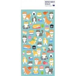 Mind Wave Sticker - Shiba (Washi)